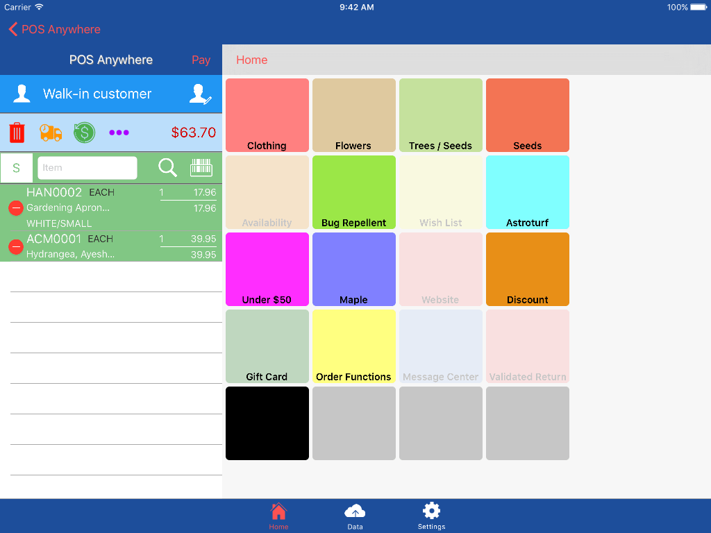 Screen Shot of Active Mobile POSA on iPad