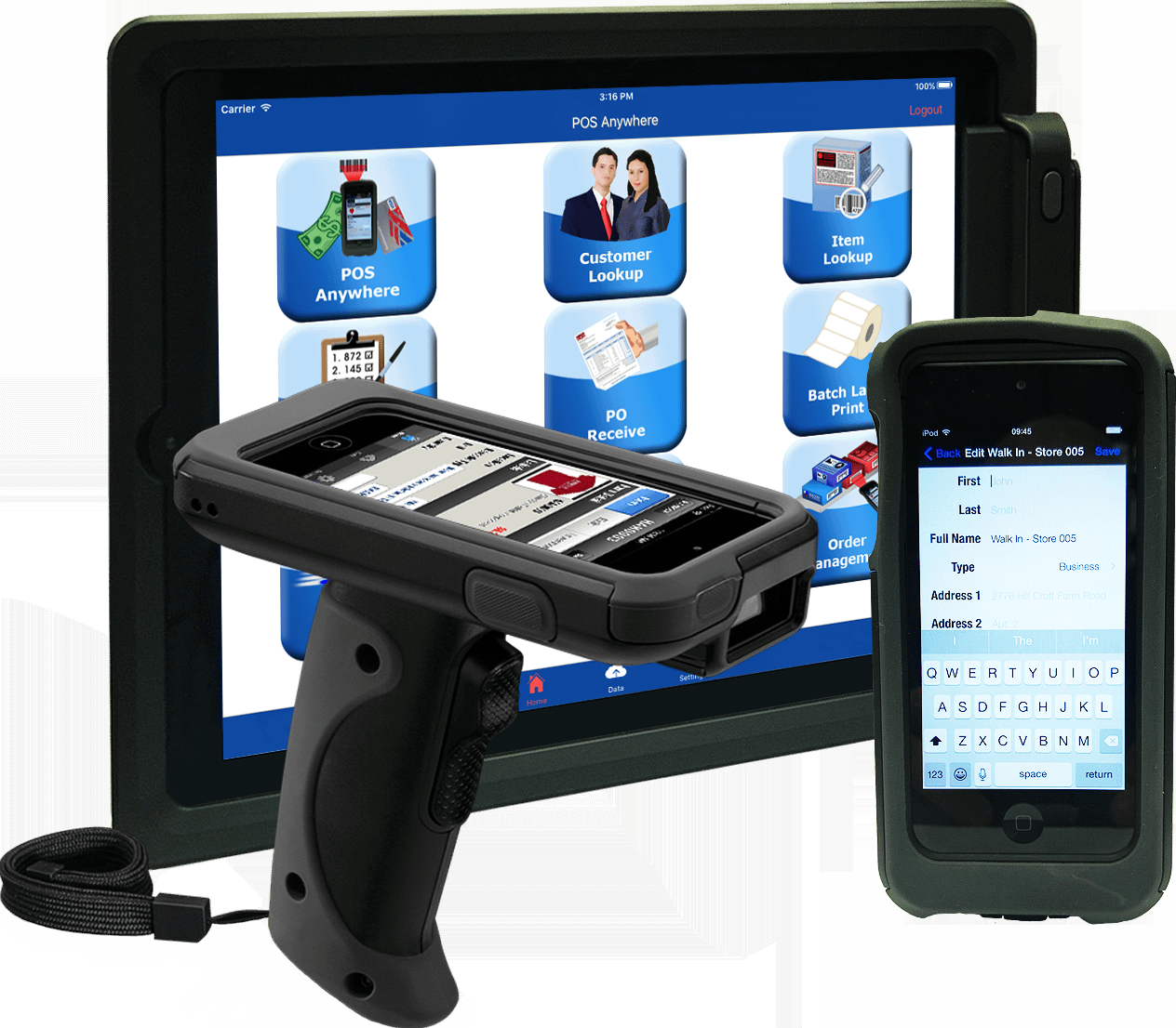 3 different devices for mobile POS - POS anywhere