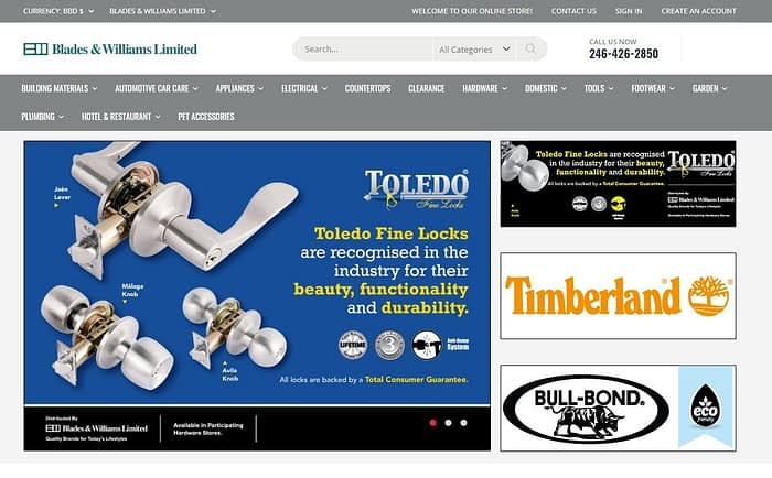 Blades and williams limited category for ecommerce website 1