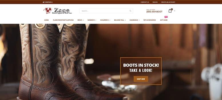 Zane Apparel homepage imagery 3